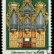 GDR - CIRCA 1976: a stamp printed in GDR shows Silbermann Organ, Rotha, Germany, circa 1976 — Stock Photo