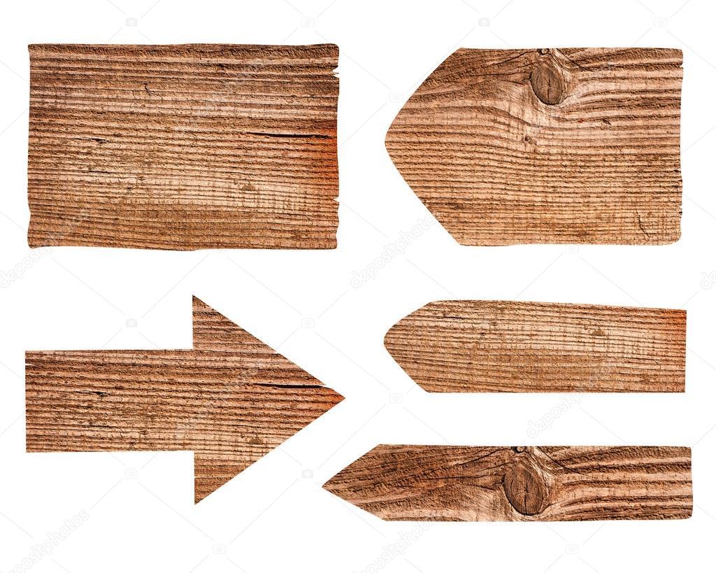 各种空木签在白色背景上的集合