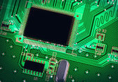 The Green PCB on the lighting. — Stock Photo