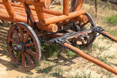 Old wooden cart — Stock Photo