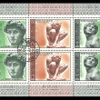 USSR - CIRC1975: stamp printed in USSR shows statues of Michelangelo, circ1975. — Foto Stock #28991825