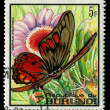 BURUNDI - CIRC1968: stamp printed in Burundi, shows butterfly Graphium Ridleyanus, series, circ1968 — Foto Stock #29004859
