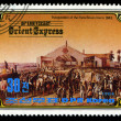Stock Photo: KORE- CIRC1984: stamp printed in Korea, shows inauguration of Paris-Roven line in 1843 , circ1984