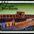 Stock Photo: KORE- CIRC1984: stamp printed in Korea, shows inauguration of French railway line in 1860 , circ1984