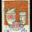 CZECHOSLOVAKIA - CIRCA 1977: stamp printed by Czechoslovakia, it is devoted to an industrial museum of Prague, circa 1977 — Stock Photo