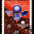 Stock Photo: USSR - CIRC1979: stamp printed in USSR shows Interplanetary flights of Vener13 and Vener14, circ1979