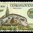 CZECHOSLOVAKI- CIRC1982: stamp printed in Czechoslovakishows ancient castle, circ1982 — Stock Photo #29123125