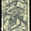 CZECHOSLOVAKI- CIRC1982: stamp printed in Czechoslovakia, shows lute player, by Jacob de Gheyn (1565-1629), series, circ1982 — Stock Photo #29124097