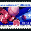 USSR - CIRCA 1985: An airmail stamp printed in USSR shows a space ship, series, circa 1985. — Stock Photo #29124607