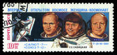 USSR - CIRCA 1985: An airmail stamp printed in USSR shows spacemen, series, circa 1985. — Zdjęcie stockowe