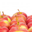 Stock Photo: Fresh red apples. Isolated on white background. Close-up