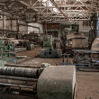 Color old and abandoned factory building interior. — Stock Photo