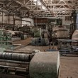 Stock Photo: Color old and abandoned factory building interior.