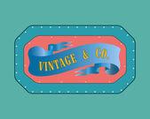 Retro style badge, vintage style — Stock Vector