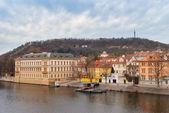 Prague. Vltava. Czech Republic. View from Charles Bridge — Stock Photo