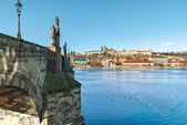 Prague, Charles Bridge, capital city of Czech Republic — Stock Photo
