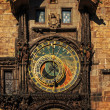 Orloj astronomical clock in Prague. Czech Republic, dark colors — Stock Photo