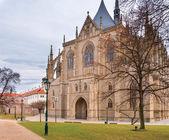 St. Barbara gothic cathedral in Kutna Hora, Bohemia — Stock Photo