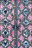Vintage Tür. Eintritt in die Kathedrale in Vysehrad, Prag. — Stockfoto