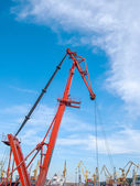 Cargo crane in the port — Stock Photo