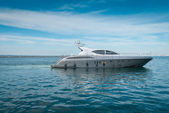 Lrge private motor yacht  out at sea — Stock Photo