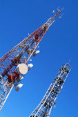 Telecommunication towers — Stockfoto
