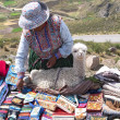 Selling handicrafts in Peru — Stock Photo