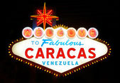 Welcome to Fabulous Caracas — Stock fotografie