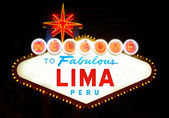 Welcome to Fabulous Lima — Stock Photo