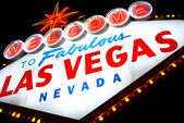 Welcome to Las Vegas sign isolated — Stock Photo