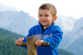 Smiling and happy child — Stock Photo