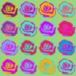 Seamless Roses Background Pattern — Stock Vector