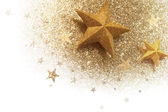 Glittered stars corner — Stock Photo