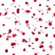 Seamless roses hearts - Stock Photo