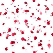 Seamless roses hearts — Stock Photo