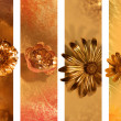 Stock Photo: Gilded Flower Banners