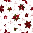 Stock Photo: Seamless PoinsettiChristmas Flower