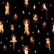 Candle Lights with Flowing Wax — Stock Photo