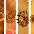 Stock Photo: Gilded Flower Buds Banners