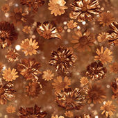 Gilded Flower Buds Pattern — Stock Photo