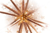 Golden Bursting Star Form — Stock Photo