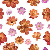Seamless Gilded Pink Flowers — Stock Photo