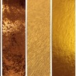 Stock Photo: Gold texture banners