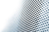 Steel Grid Circle Holes in Focus Shift — Stock Photo
