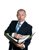 Man in a business suit — Stock Photo