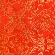 Stock Photo: Floral pattern on fabric