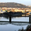Stock Photo: Panoramof bridges on VltavRiver in Prague