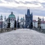 View of the Charles Bridge in Prague — Stock Photo