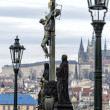 Statue on the Charles Bridge — Stock Photo