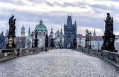 View of the Charles Bridge in Prague — Stock Photo